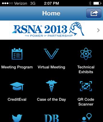 RSNA mobile app