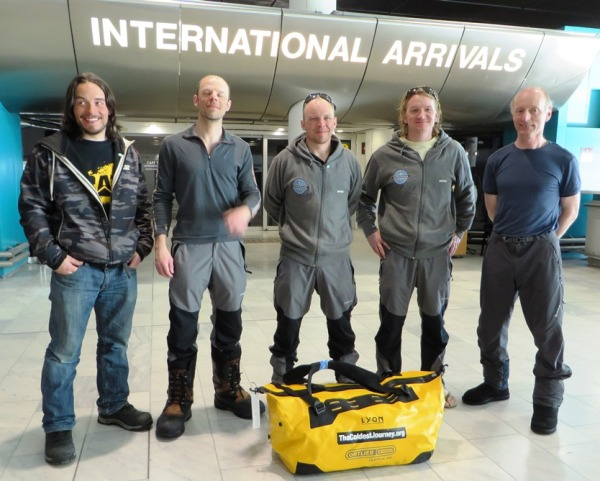 The Coldest Journey team has returned home after a long adventure.