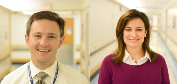 Alexander Towbin, MD, Neil D. Johnson Chair of Radiology Informatics, Cincinnati Children's Hospital (left), and Catherine Leopard, Child Life Specialist, Cincinnati Children's Hospital (right)